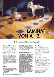 LAMINAT VON A - Z LAMINAT VON A - Z