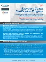 Executive Coach Certification Program Executive Coach - Coaching ...
