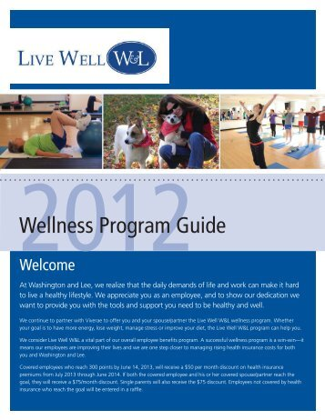 Wellness Program Guide - Washington and Lee University