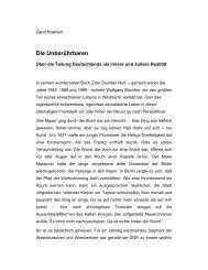 Die Unberührbaren - Gerd Koenen