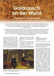 Goldrausch an der Wand Historische Gold-Ledertapeten
