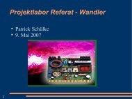 Projektlabor Referat - Wandler - TU Berlin