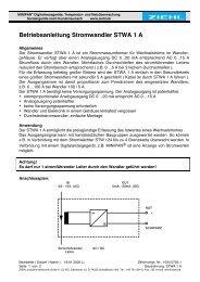 Betriebsanleitung Stromwandler STWA 1 A - Ziehl industrie ...