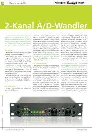 2-Kanal A/D-Wandler - Benchmark Media Systems