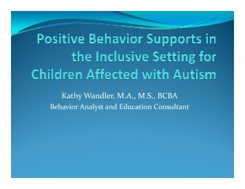 K. Wandler Positive Behavior Supports in - State of California