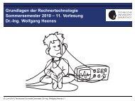 Grundlagen der Rechnertechnologie Sommersemester 2010 – 11 ...