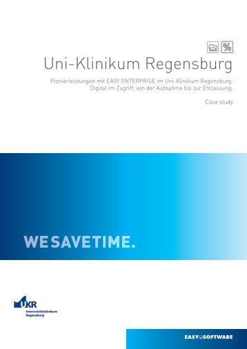 WESAVETIME. Uni-Klinikum Regensburg - ECM Navigator