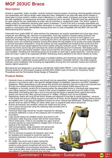 Technical File Section 3 Hydraulic Bracing Systems