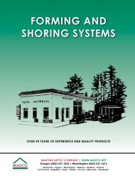 Forming & Shoring Systems 2012 - masco.net