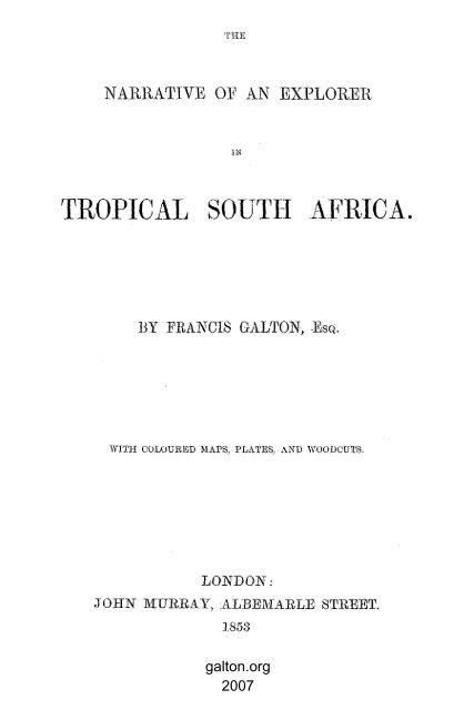PDF Facsimile - Sir Francis Galton FRS