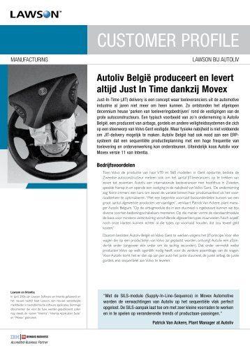 CUSTOMER PROFILE - Lawson Software