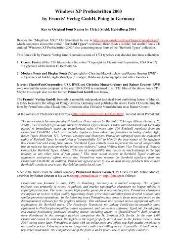 Windows XP Profischriften 2003 by Franzis' Verlag ... - Sanskrit Web