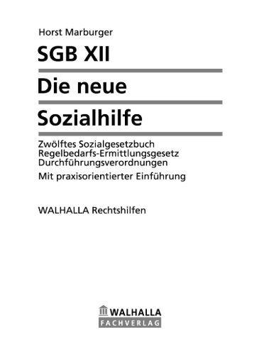 SGB XII - Die neue Sozialhilfe