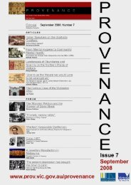 Provenance: The Journal of Public Record Office Victoria