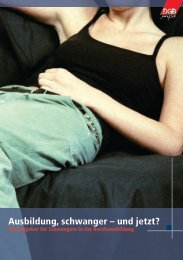 Ausbildung, schwanger – und jetzt? - DGB-Jugend