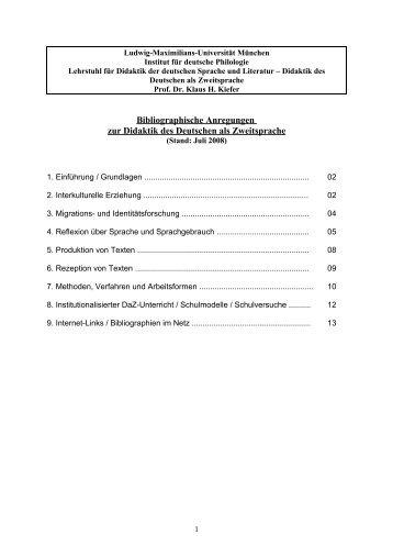 DDaZ- Bibliographie (PDF-Datei) - Deutsche Philologie