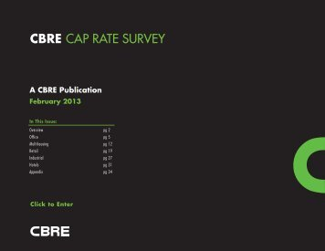 CBRE CAP RATE SURVEY