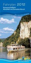 Fahrplan 2012 - Heiraten auf dem Schiff.