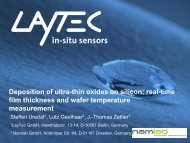 Deposition of ultra-thin oxides on silicon - Laytec
