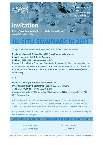 IN-SITU SEMINArS in 2011 - Laytec