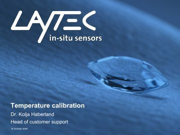 Temperature calibration - Laytec
