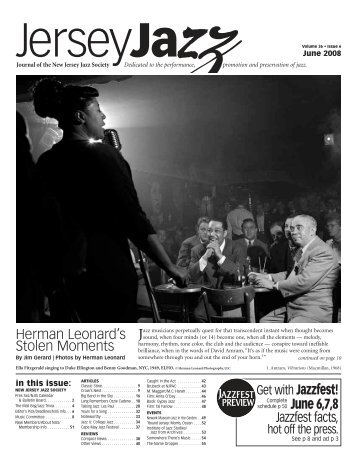 Herman Leonard's Stolen Moments June 6,7,8 - New Jersey Jazz ...