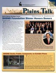 Plains Talk Volume 43 Spring/Summer 2012(pdf - the State ...