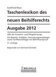 Taschenlexikon des neuen Beihilferechts Ausgabe 2012