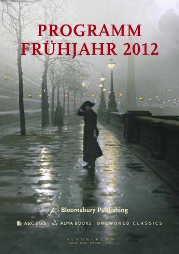 PROGRAMM FRÜHJAHR 2012
