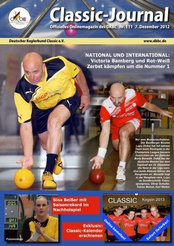 Classic-Journal 111/12 - Deutscher Kegler