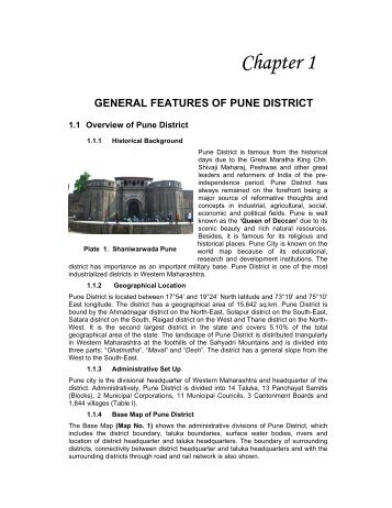 Chapter 1 GENERAL FEATURES OF PUNE DISTRICT