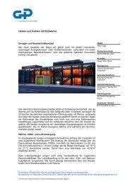Heizen und Kühlen mit Erdwärme - Gruenberg & Partner AG