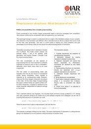 C/C++ programming: Preprocessor directives in C - IAR Systems