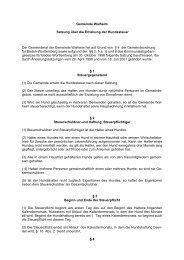 Gemeinde Walheim Satzung über die Erhebung der Hundesteuer ...