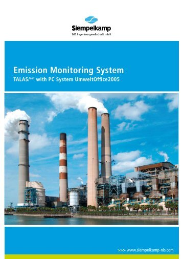 Emission Monitoring System TALAS/net with PC ... - Siempelkamp NIS