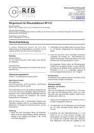 Ringversuch für Rheumafaktoren RF1/12 Versuchsanleitung - des RfB