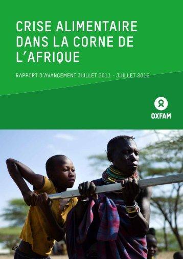 Crise Alimentaire dans la Corne de L'Afrique - Oxfam International
