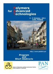 Conference book - Polymers for Advanced Technologies 2011