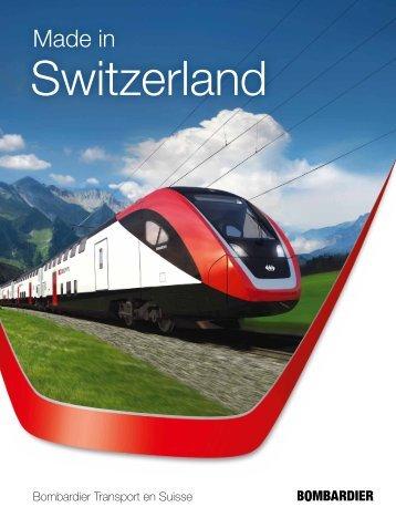 Bombardier Transportation Suisse Brochure