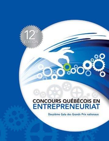 Programme de soirée 2010 - Concours québécois en entrepreneuriat
