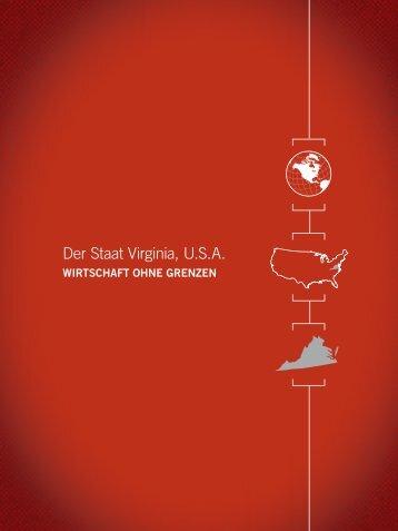 Der Staat Virginia, USA - Virginia Economic Development Partnership