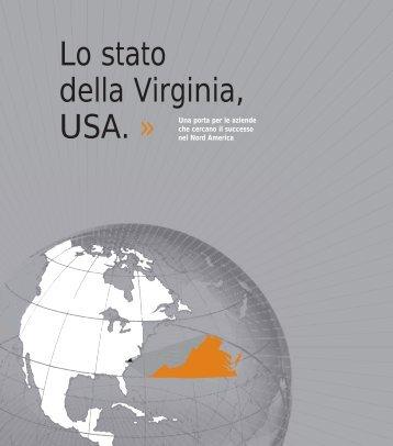 Lo stato della Virginia, - Virginia Economic Development Partnership