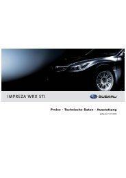 IMPREZA WRX STI - Auto Hug AG, Subaru Garage