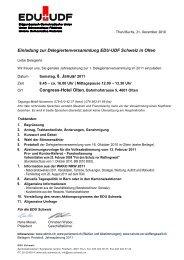 Einladung zur Delegiertenversammlung EDU-UDF Schweiz in Olten ...
