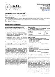 Hinweise zur Auswertung US2/12 - des RfB