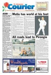 Te Awamutu Courier - September 20th, 2007 - Te Awamutu Online