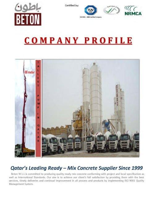 to download company profile (PDF) - Beton