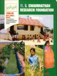 Sub Programme Area 204 - M. S. Swaminathan Research Foundation