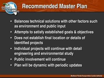Recommended Master Plan Presentation - NWFTCA