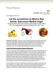 Let the countdown to Marina Bay Sands' Epicurean Market begin